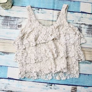 Francesca's Layered Lace Tank Top